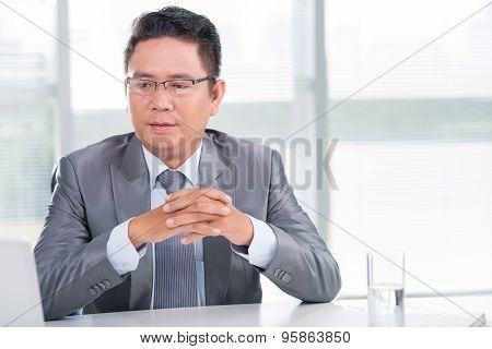 Pensive Boss