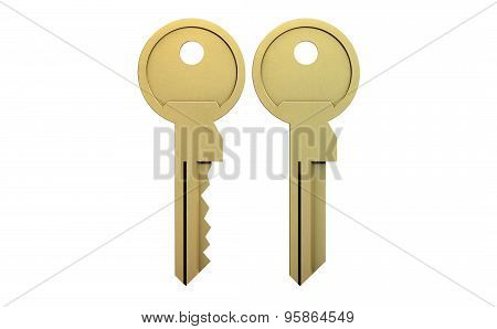 Key Blank And Cut View