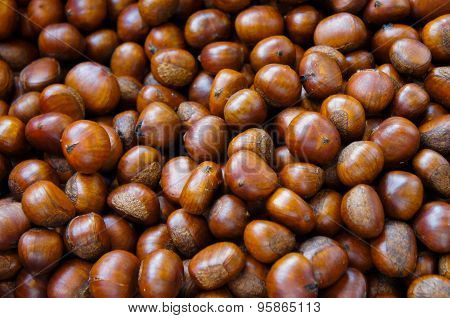 Chestnuts,background Thailand