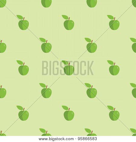 Seamless Apple Pattern Background