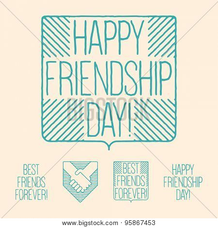 Simbols concept - Happy friendship day!