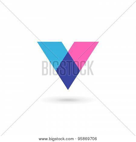 Letter V Logo Icon Design Template Elements
