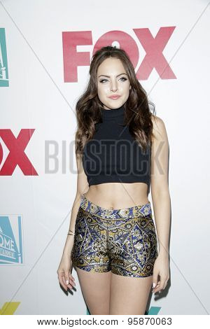 SAN DIEGO - JUL 10:  Elizabeth Gillies at the 20th Century Fox Party Comic-Con Party at the Andaz Hotel on July 10, 2015 in San Diego, CA