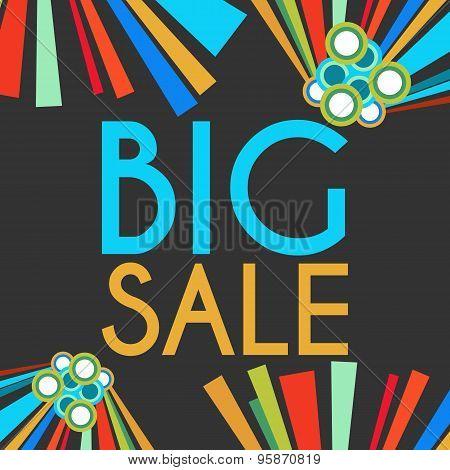 Big Sale Dark Colorful Elements