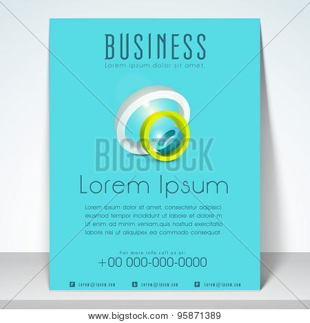 Stylish template, brochuer and flyer for business purpose withaddress bar and mailer.