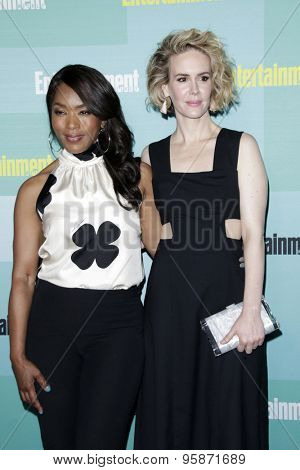 SAN DIEGO - JUL 11:  Angela Bassett, Sarah Paulson at the Entertainment Weekly's Annual Comic-Con Party at the Hard Rock Hotel on July 11, 2015 in San Diego, CA