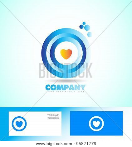 Corporate Circle Heart Love Logo