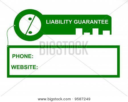 0% Liability Bank Guarantee Key Tag