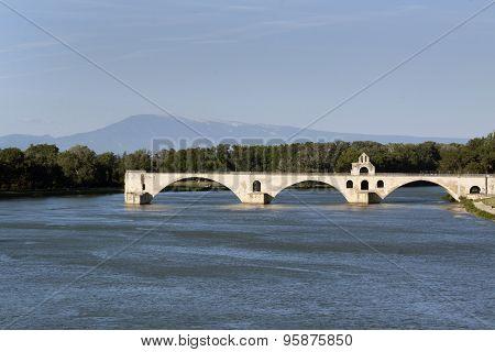 Bridge In Avignon France Mont Ventoux