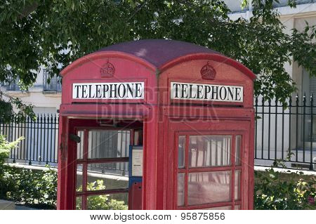 Detail Of An British Phone Booth