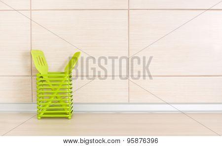 Kitchen Utensils On Countertop