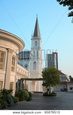 Traditional city church in Singapore