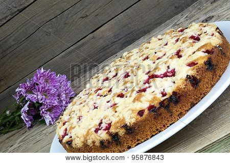 Currant Cake On Table