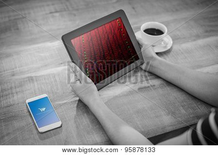 Payment successful screen against stocks and shares