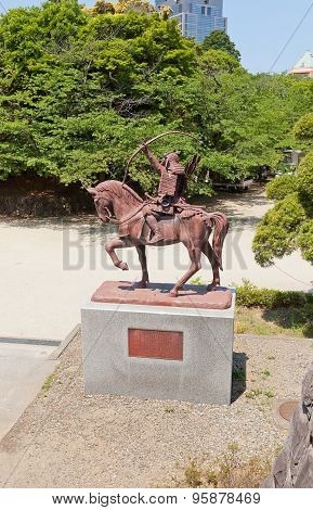 Chiba Tsuneshige Monument In Chiba, Japan