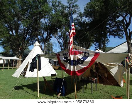 Tent at Ft. Stanton
