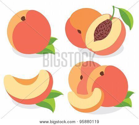 Vector Peaches