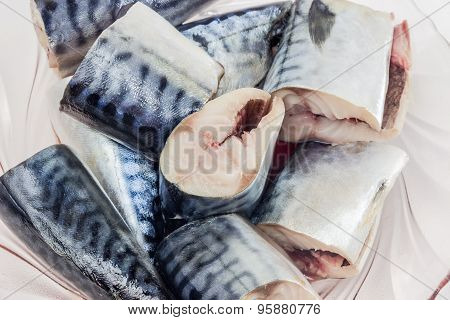 Pieces Of Mackerel Closeup