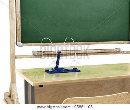 Bookend On The School Table