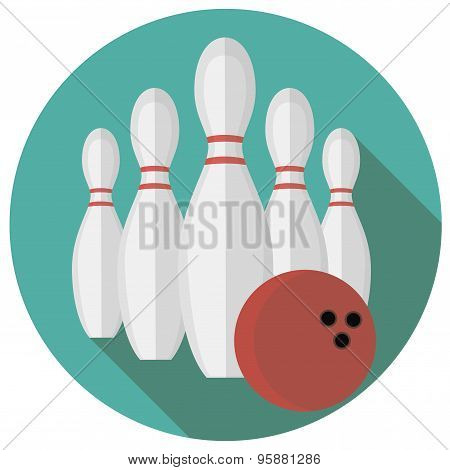 Vector illustration of bowling