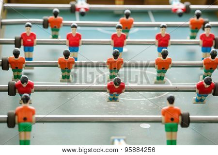 Table Soccer Players From Top Down