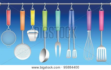 Kitchen Tool Hanger Colors Cutlery