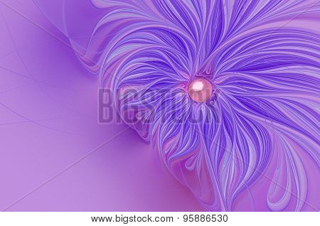 Illustration   Background With A Delicate Flower And Copy Space