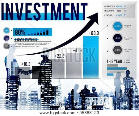 Investment Progress Statistics Bookkeeping Budget Concept