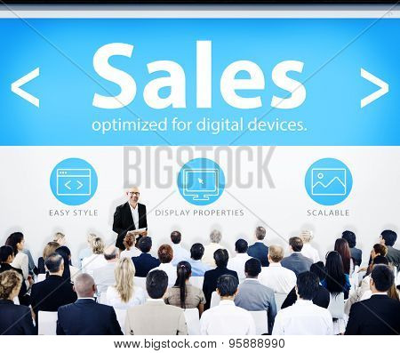 Group of Business People Seminar Sales Concept
