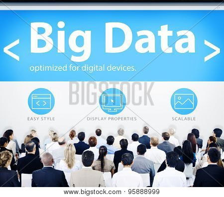 Business People Big Data Seminar Concept