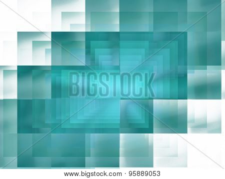 Abstract Fractal Blue Checkered Background
