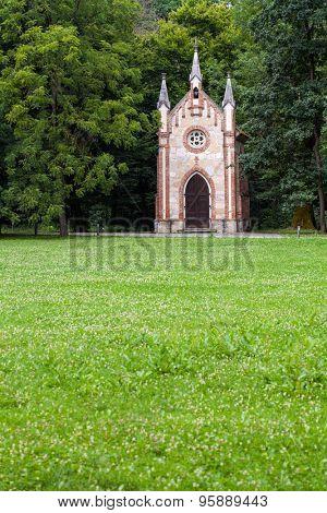 Catholic chapel in Novi Dvori forest in Zapresic, Croatia