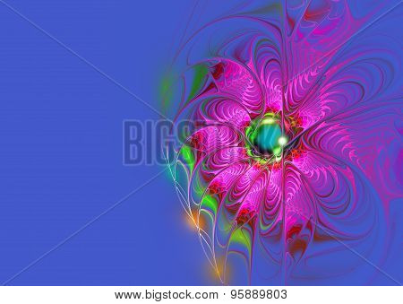 Illustration  Background Bright Flower With Copy Space