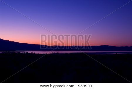 Mono Lake-Orange Sunset