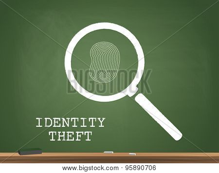 Identity Theft Chalkboard Illustration