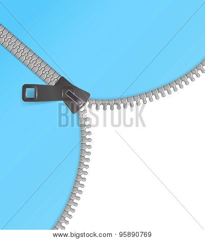 Zipper Vector Background Blue