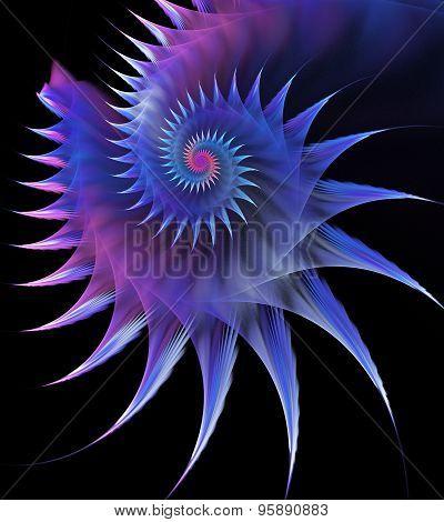 Illustration Of A Fractal Horned Sea Shell