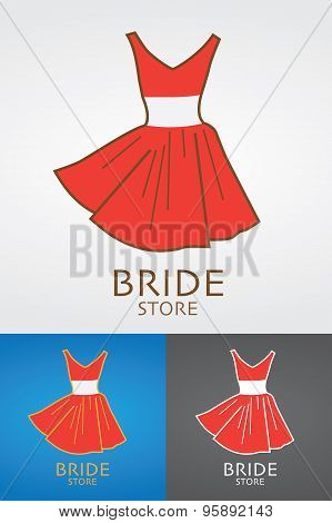 Bride Fashion Store Vector Design Logo