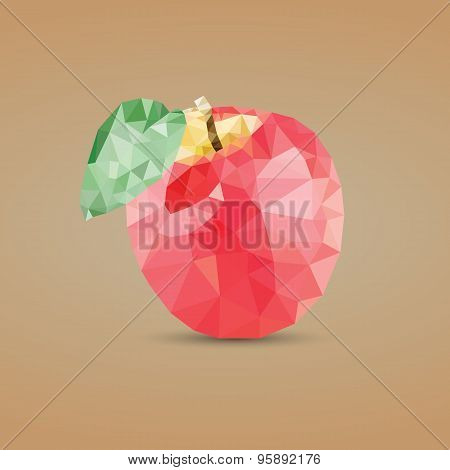 Low Poly Apple Vector Design