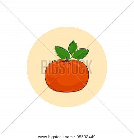Icon Colorful Mandarin