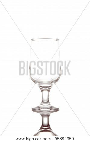 Empty Champagne Flute, Isolated