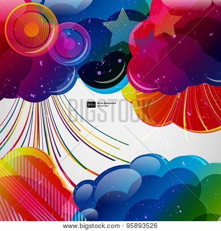 Abstract background with colorful elements.Vector illustration.
