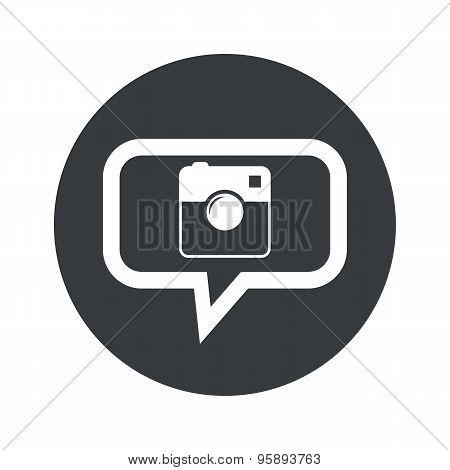 Round square camera dialog icon