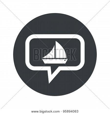 Round ship dialog icon