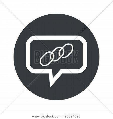 Round chain dialog icon