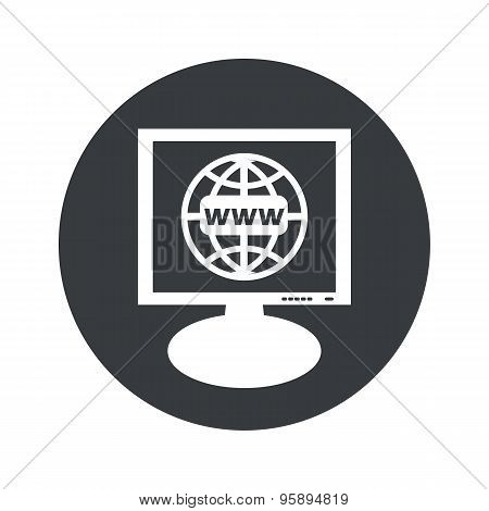Round global network monitor icon