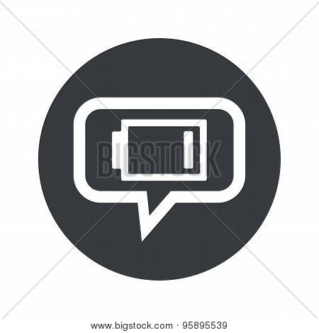 Round low accumulator dialog icon