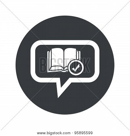 Round select book dialog icon