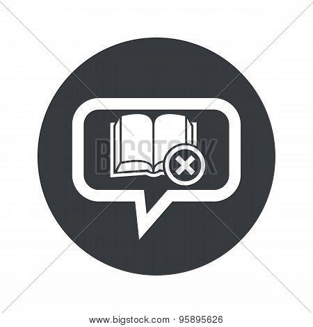 Round remove book dialog icon