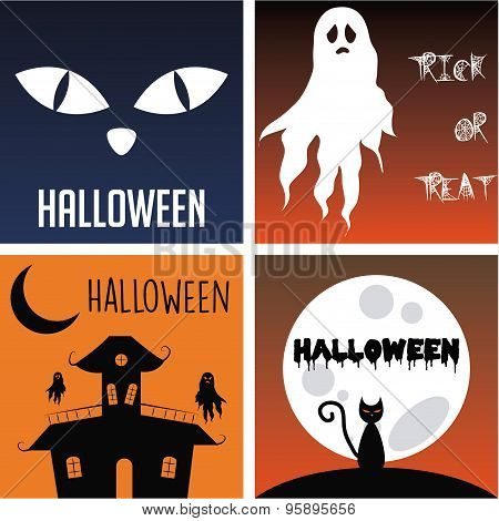 Set of halloween backgrounds